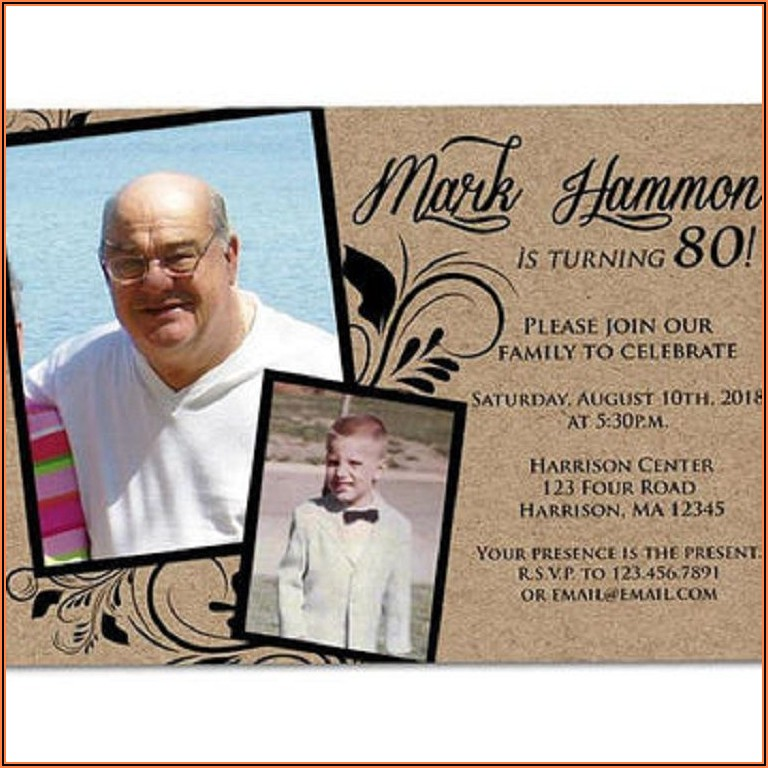70th Birthday Invitations For A Man