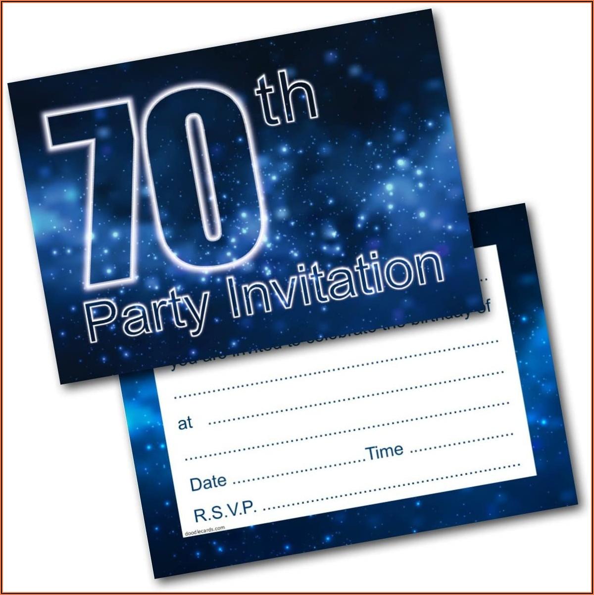 70th Birthday Invitations Male