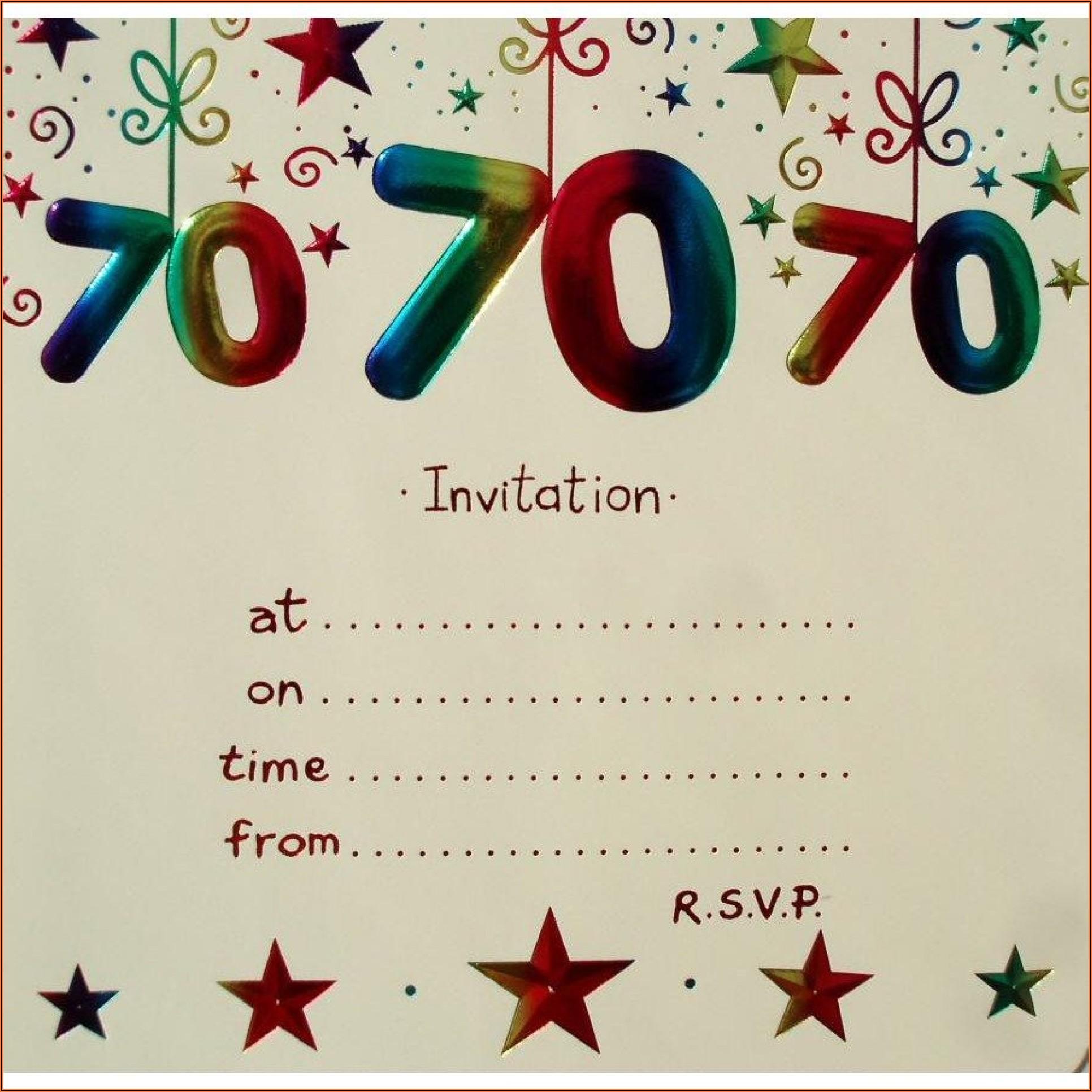 70th Birthday Invitations With Photos Free