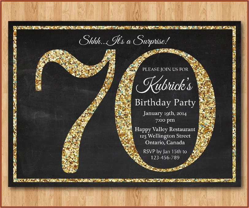 70th Birthday Invitations With Picture