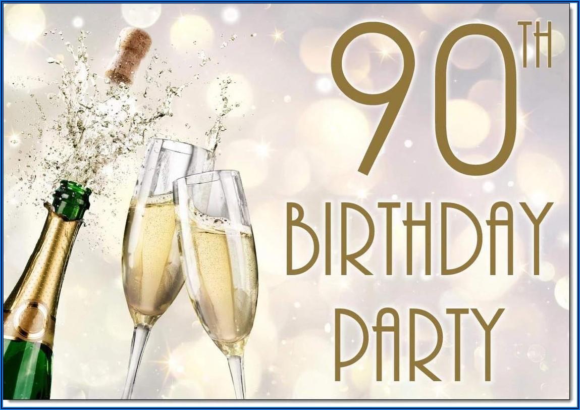 90th Birthday Invitations Male