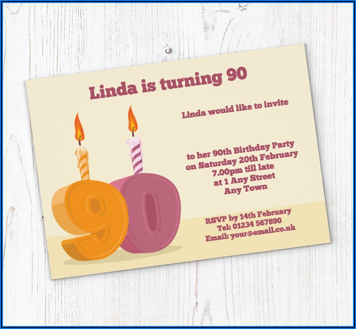 90th Birthday Invitations Online