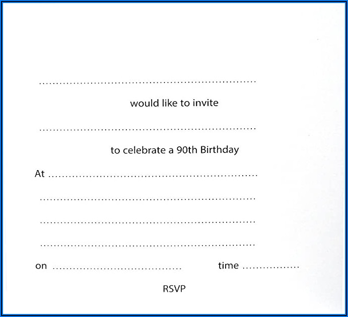 90th Birthday Party Invitations Uk