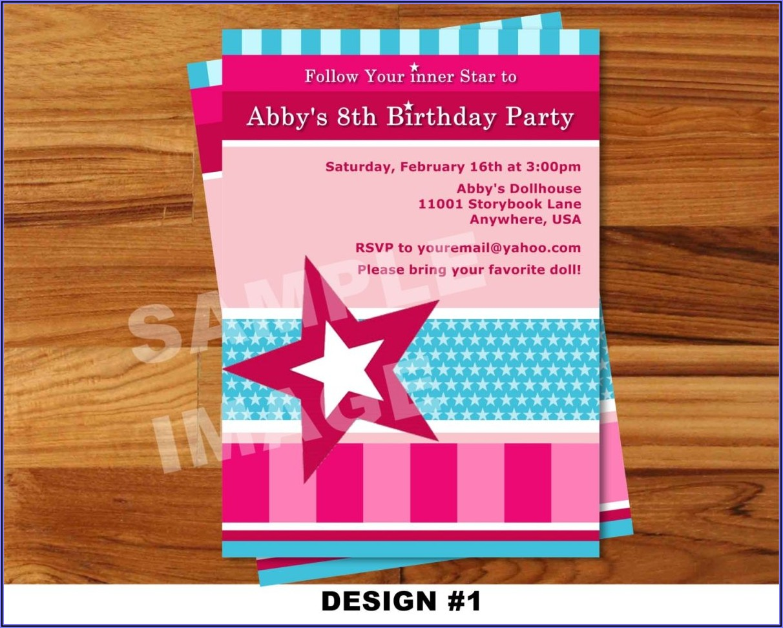 American Girl Birthday Invitation Templates Free