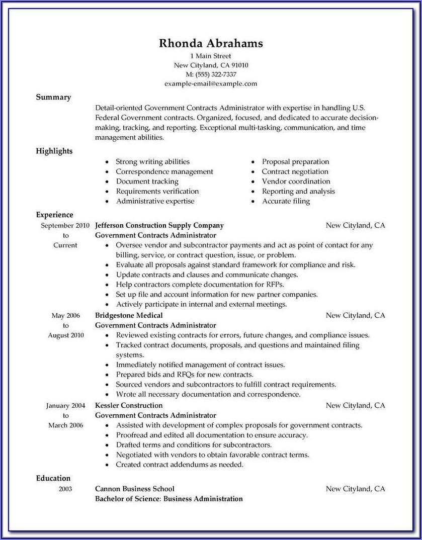 American Resume Template Free