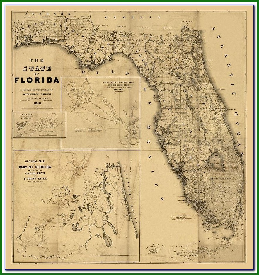 Antique Florida Maps