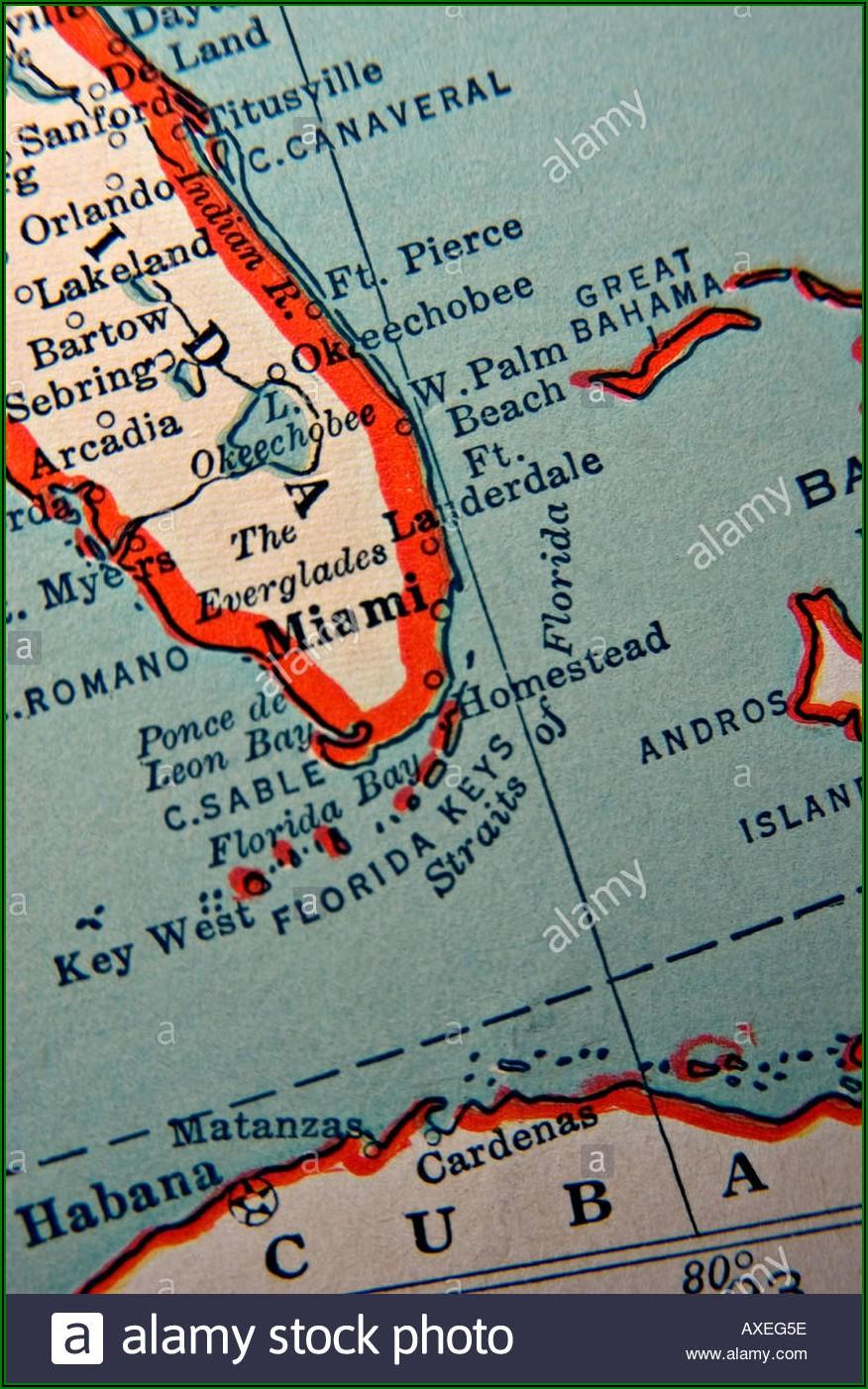 Antique Map Florida Keys