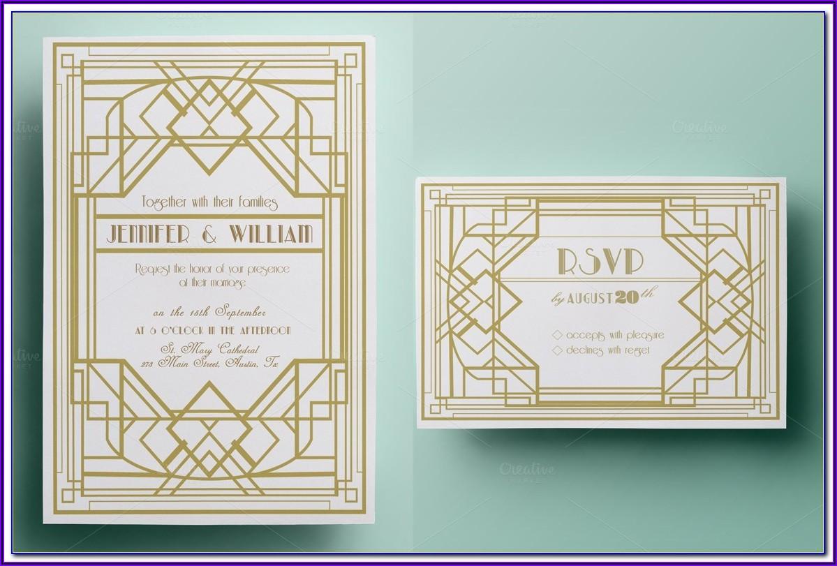 Art Deco Invitation Templates Download Free