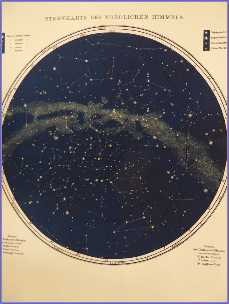 Astronomy Star Maps Constellations