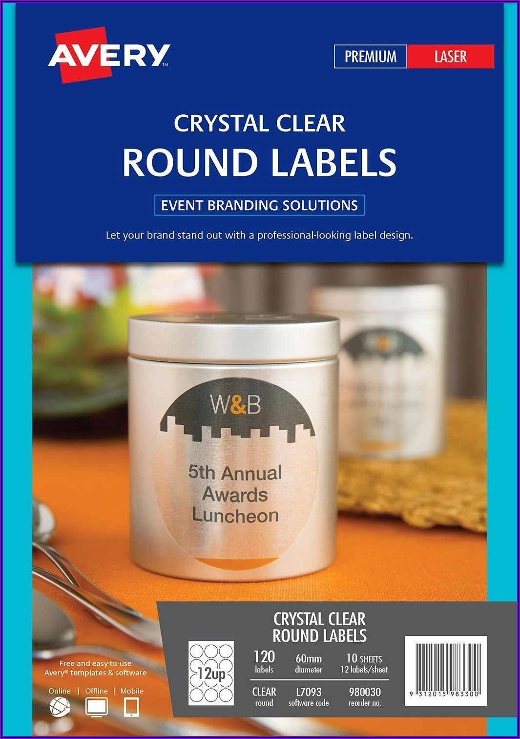 Avery Clear Labels Template