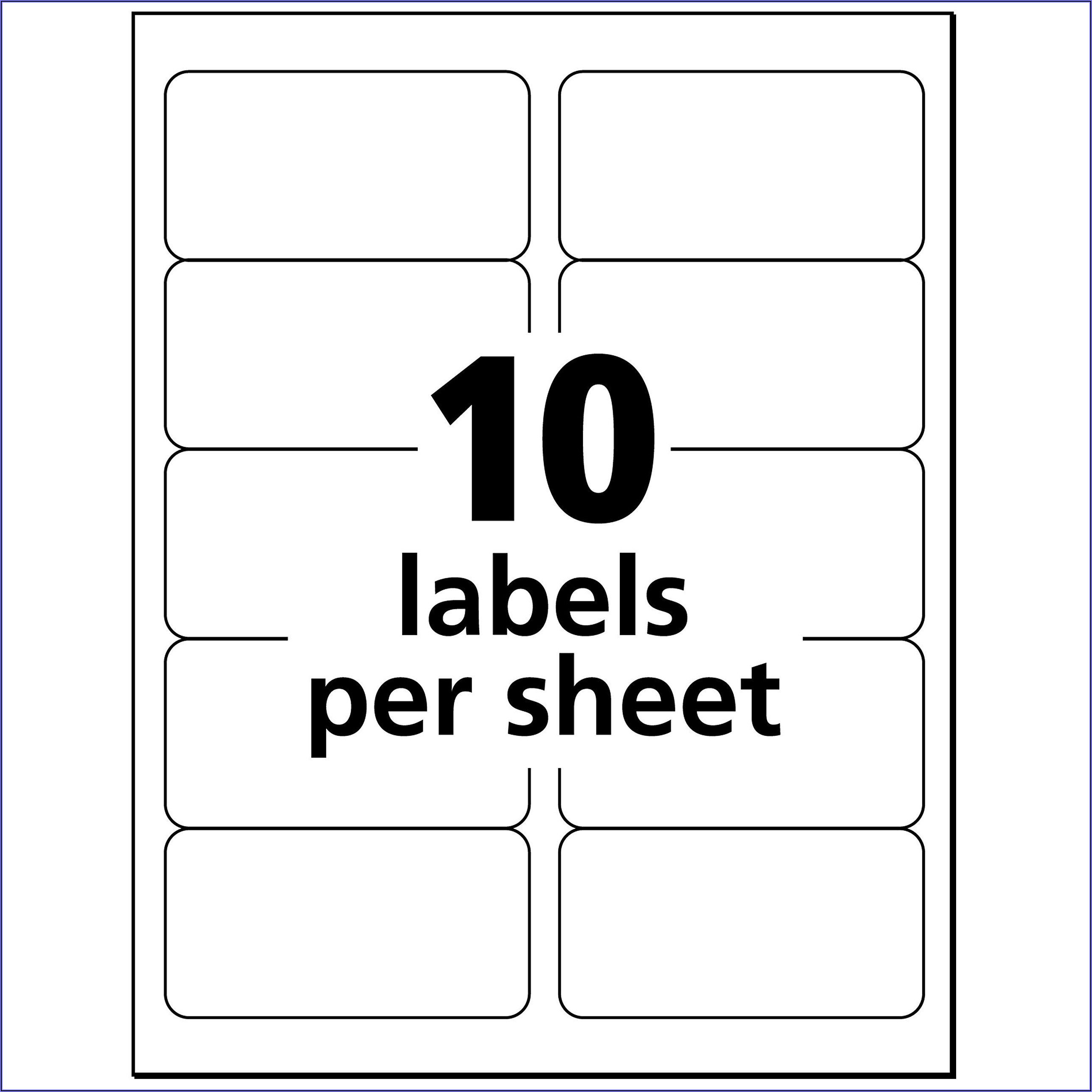 Avery Label 14 Per Sheet Template