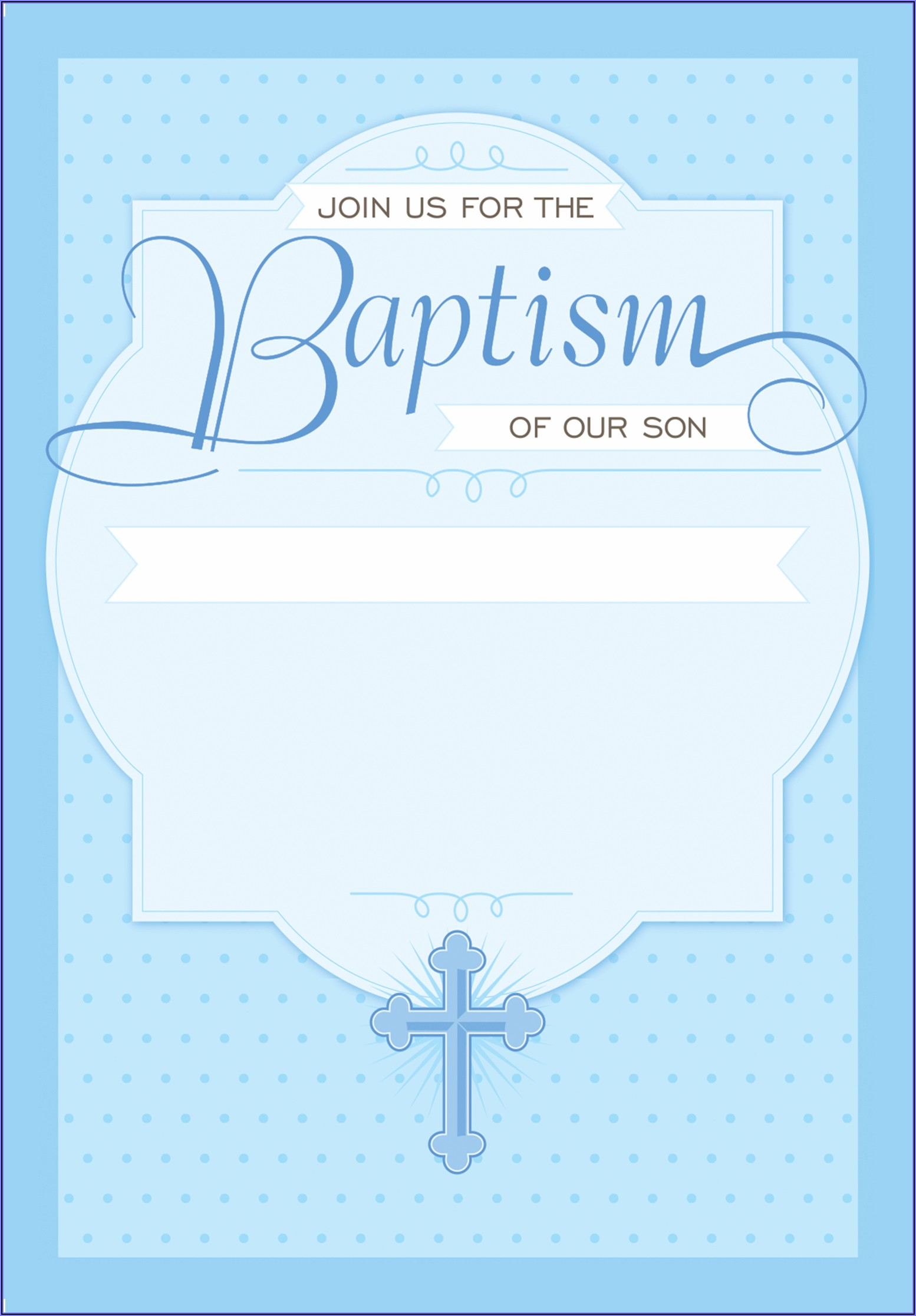Baby Boy Baptism Invitation Background