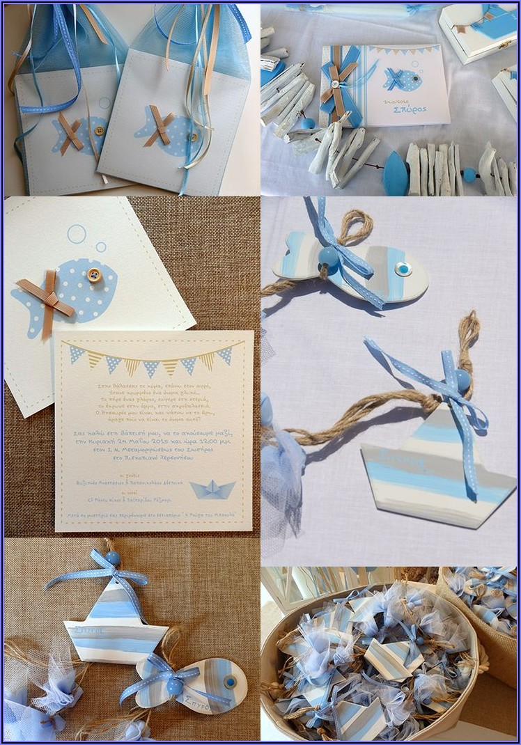 Baby Boy Baptism Invitation Ideas