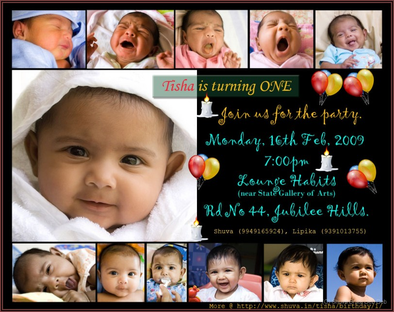 Baby Boy First Birthday Invitation Cards India