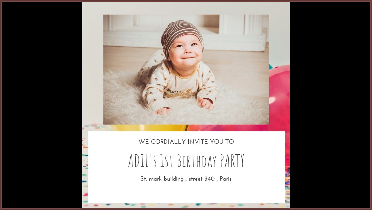 Baby Boy First Birthday Invitation Message