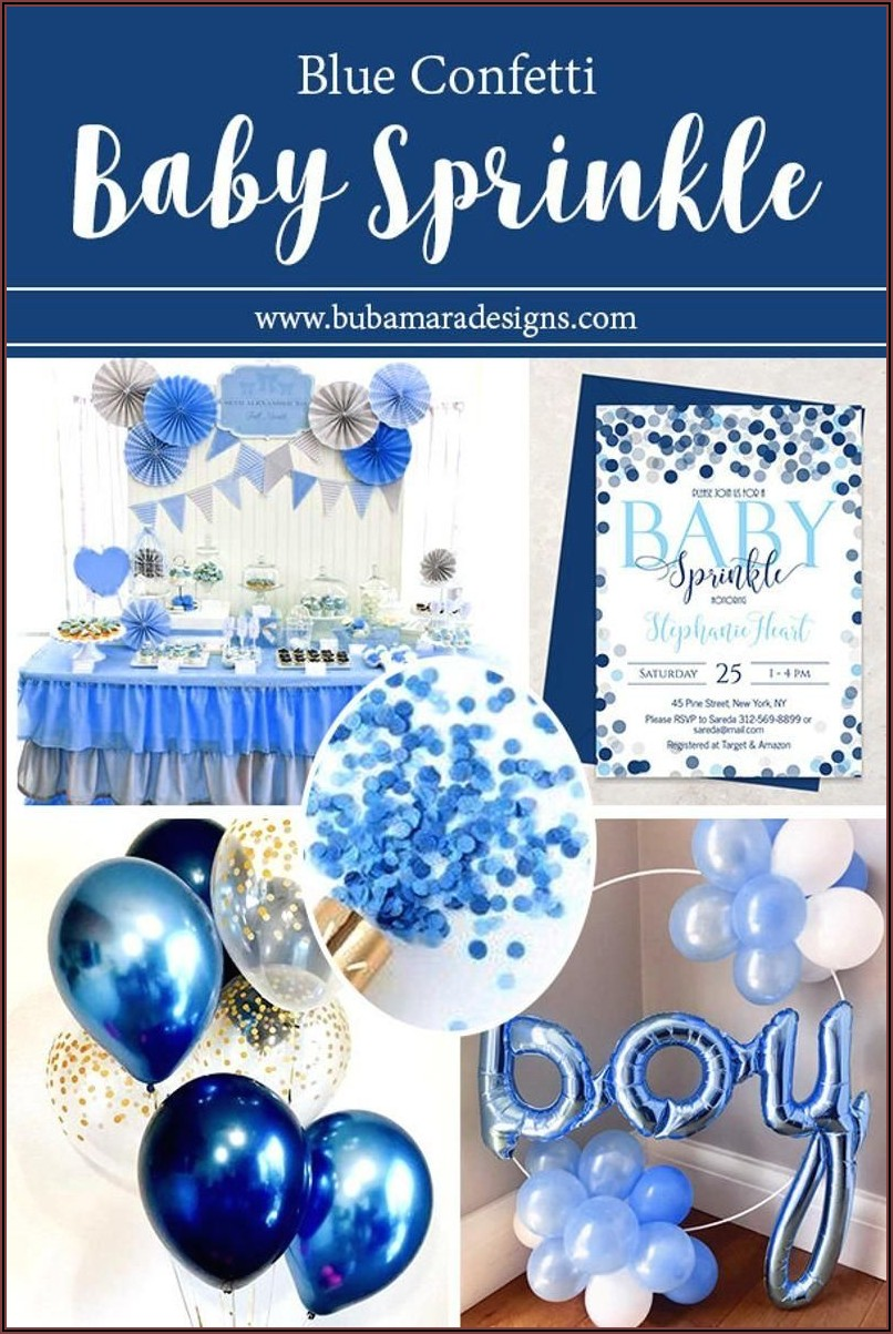 Baby Boy Sprinkle Invitation Template