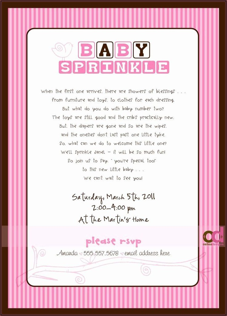 Baby Boy Sprinkle Invitations Wording