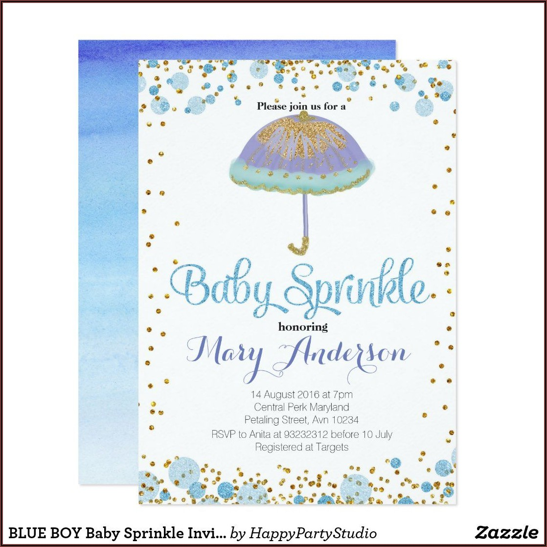 Baby Boy Sprinkle Invitations