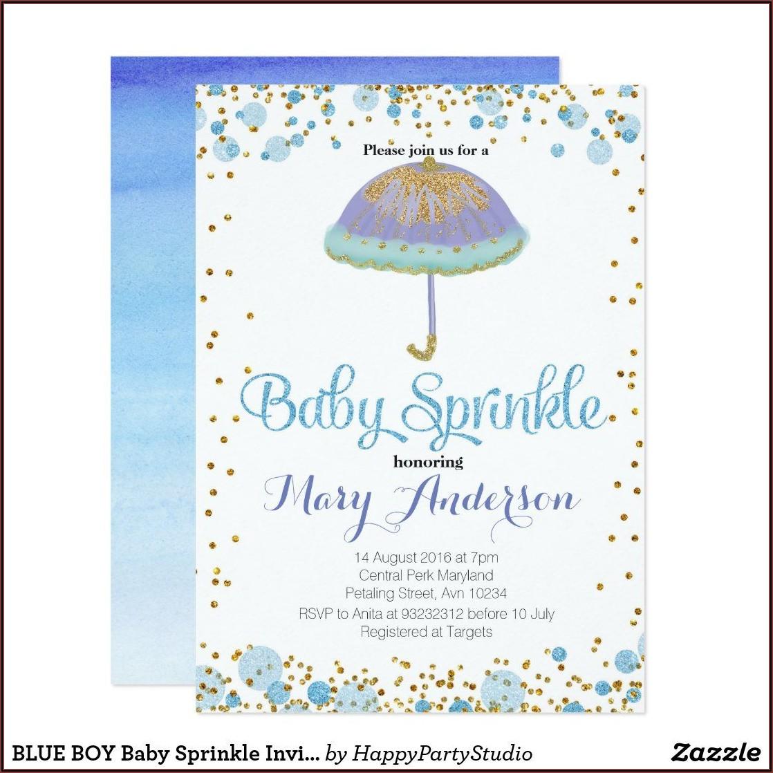 Baby Boy Sprinkle Invitations