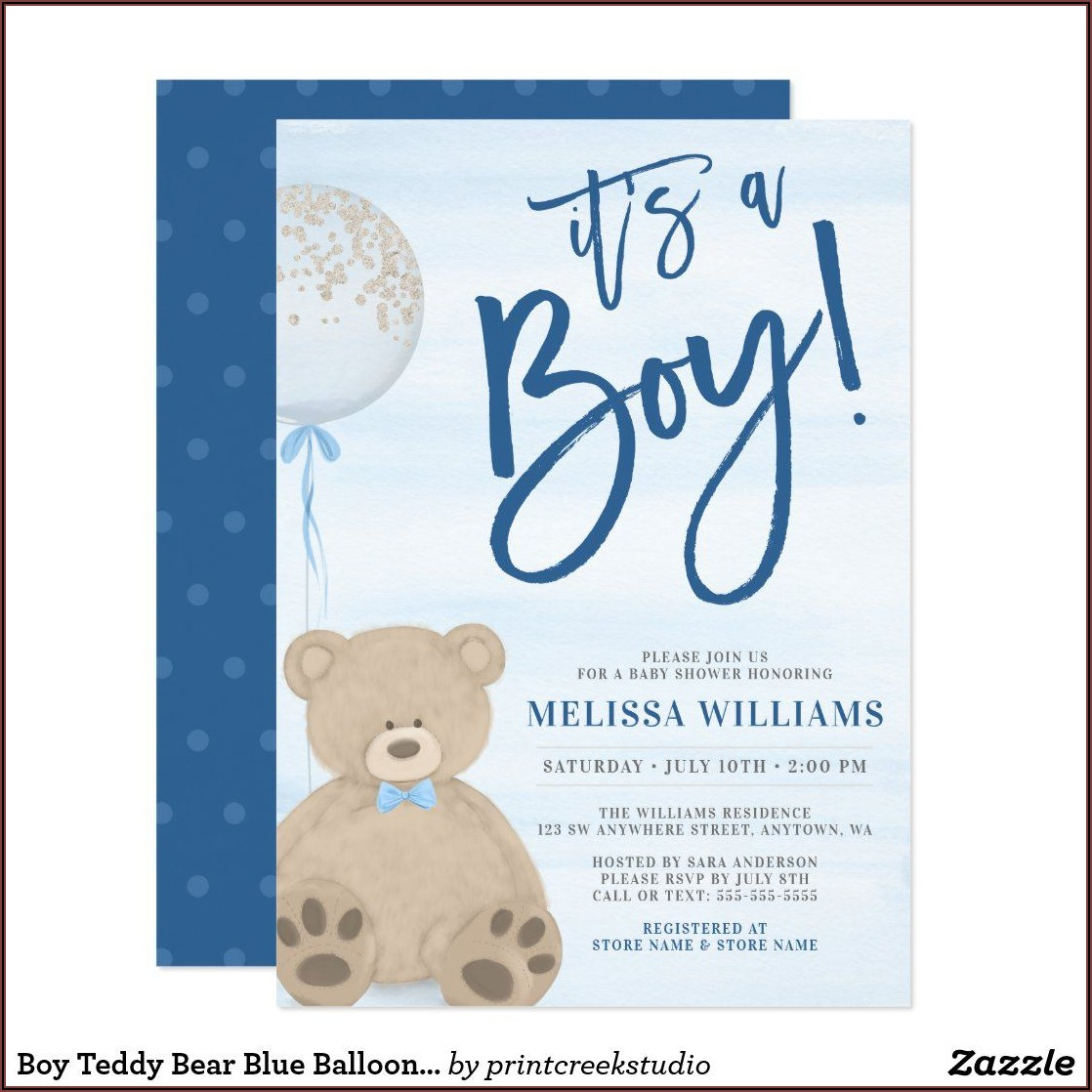 Baby Boy Sprinkle Party Invitations