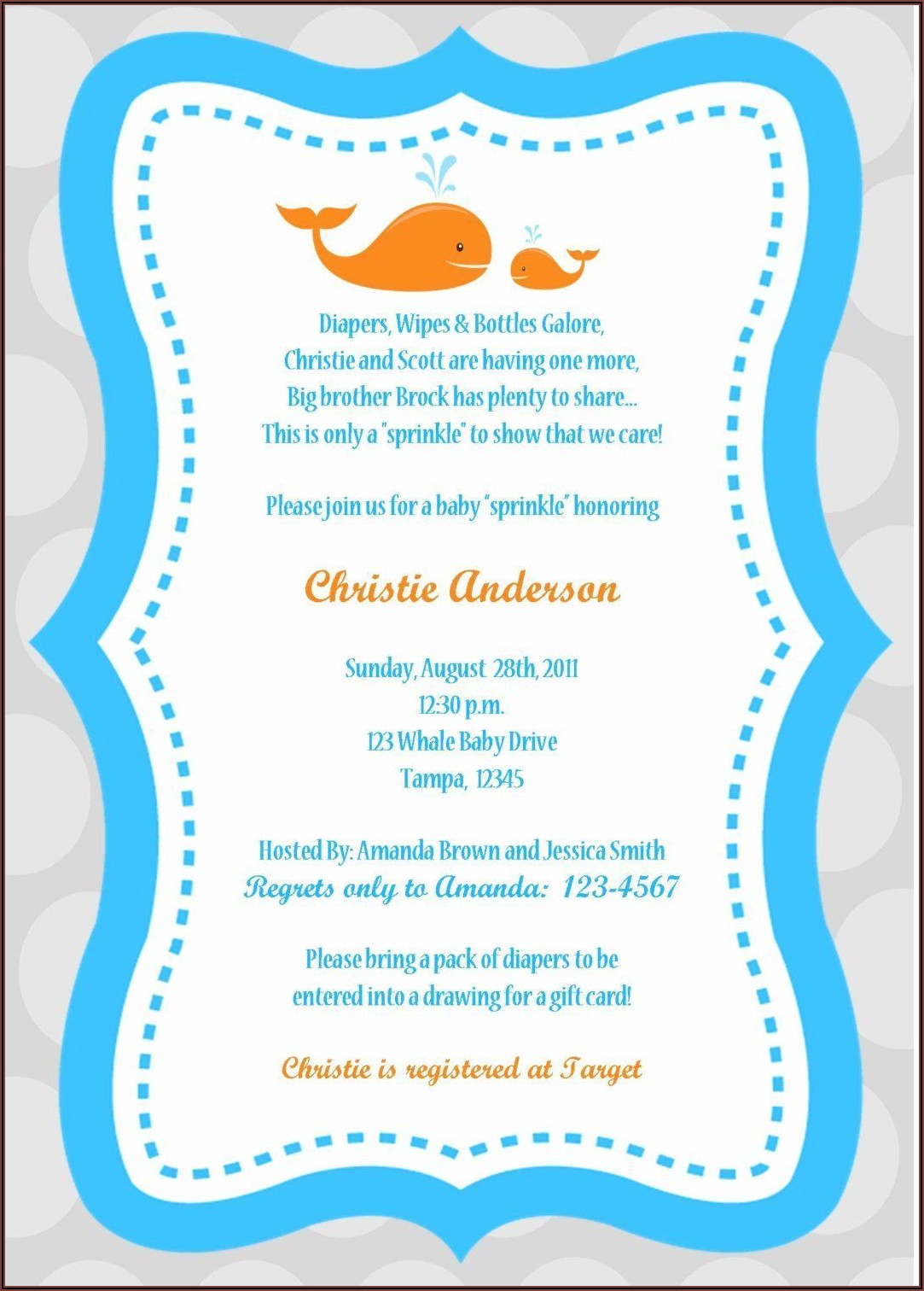 Baby Boy Sprinkle Shower Invitations