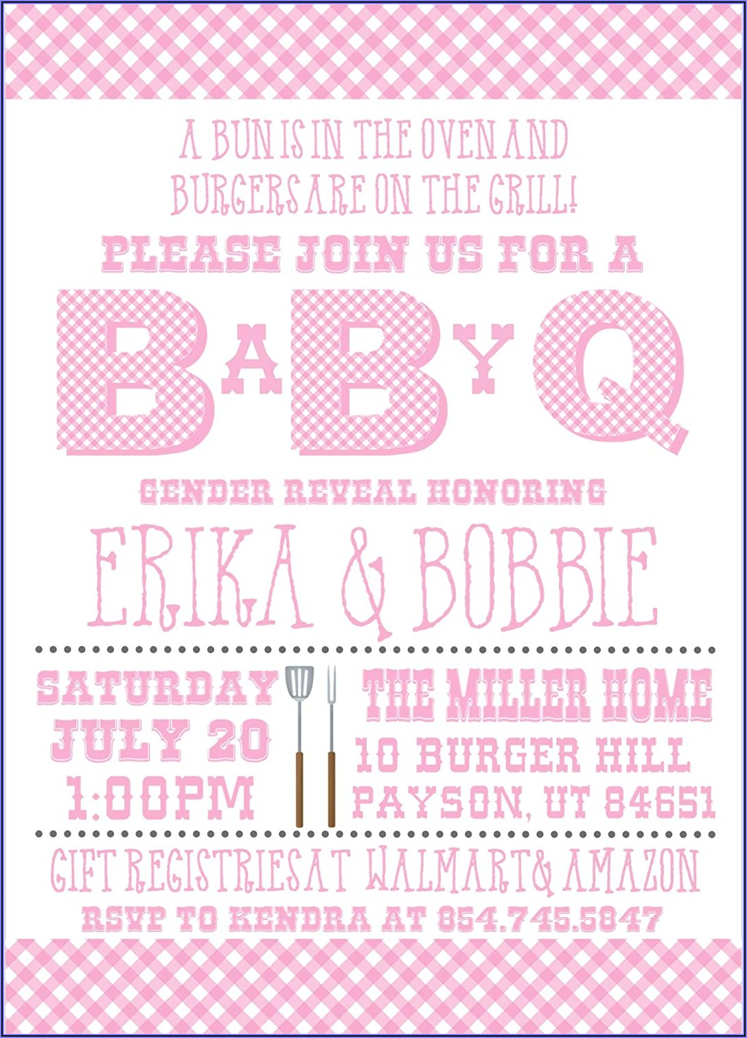 Baby Q Gender Reveal Invitations