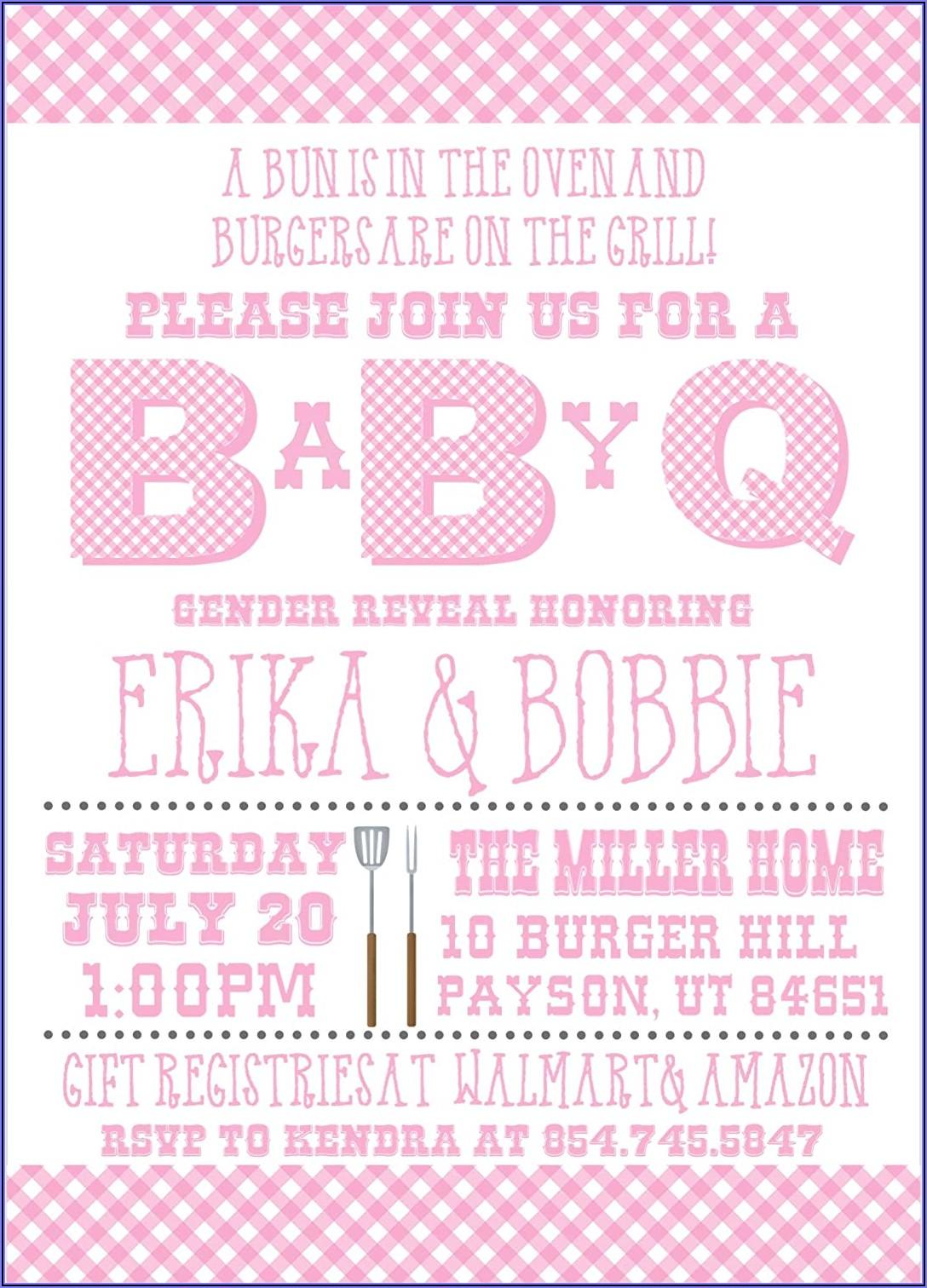 Baby Q Gender Reveal Invitations