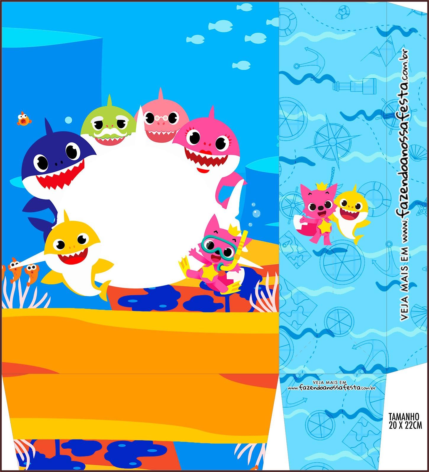 Baby Shark Birthday Invitation Template Free Download