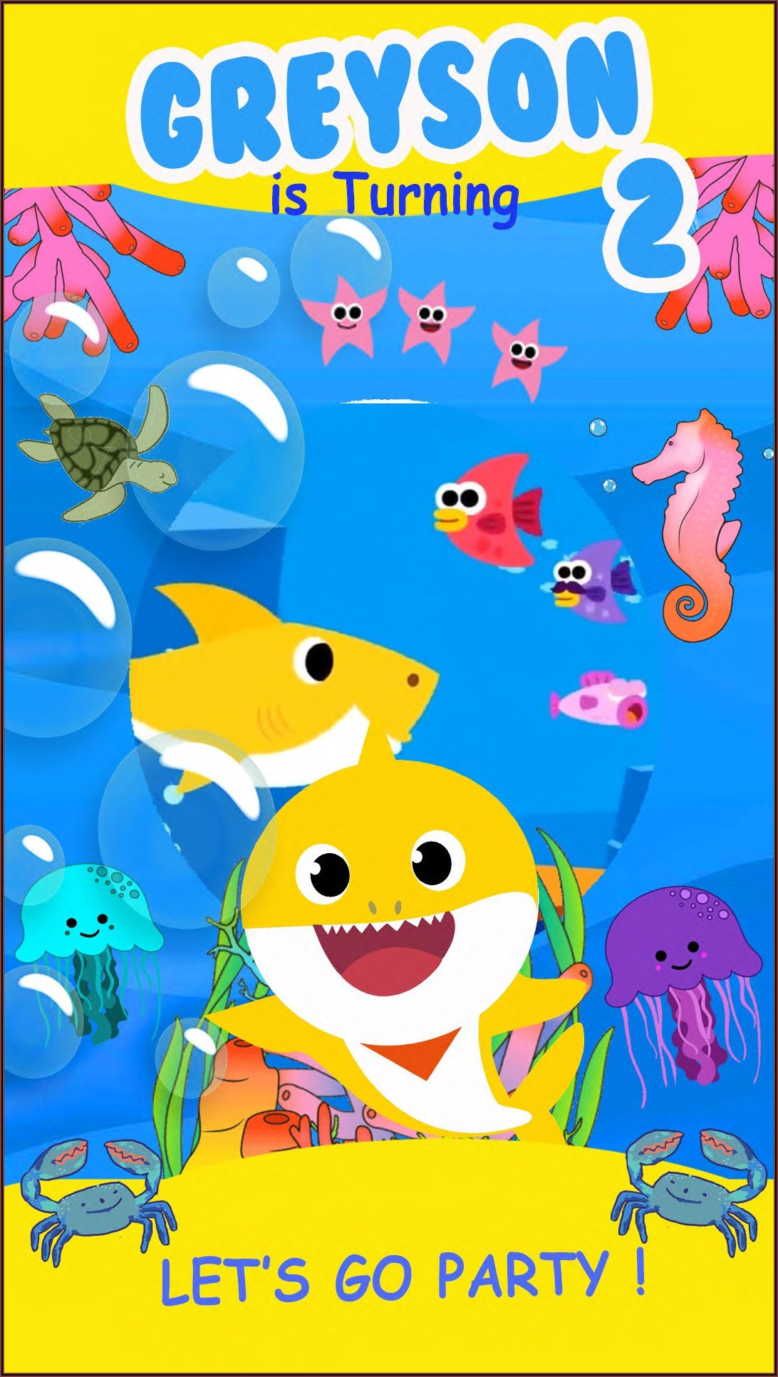 Baby Shark Birthday Invitation Video