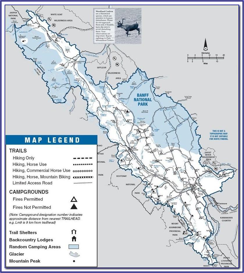 Banff National Park Hiking Map Pdf