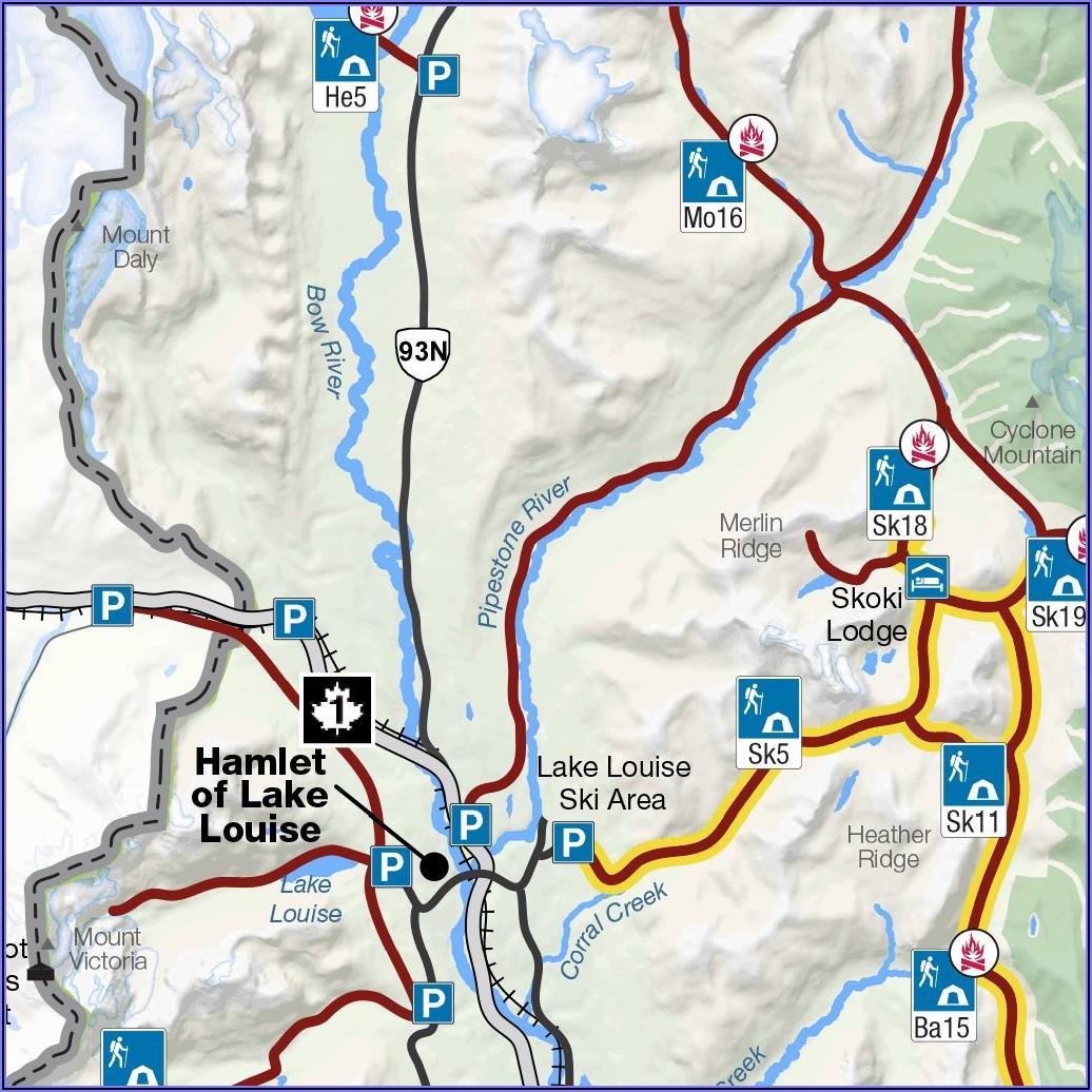 Banff National Park Trail Map