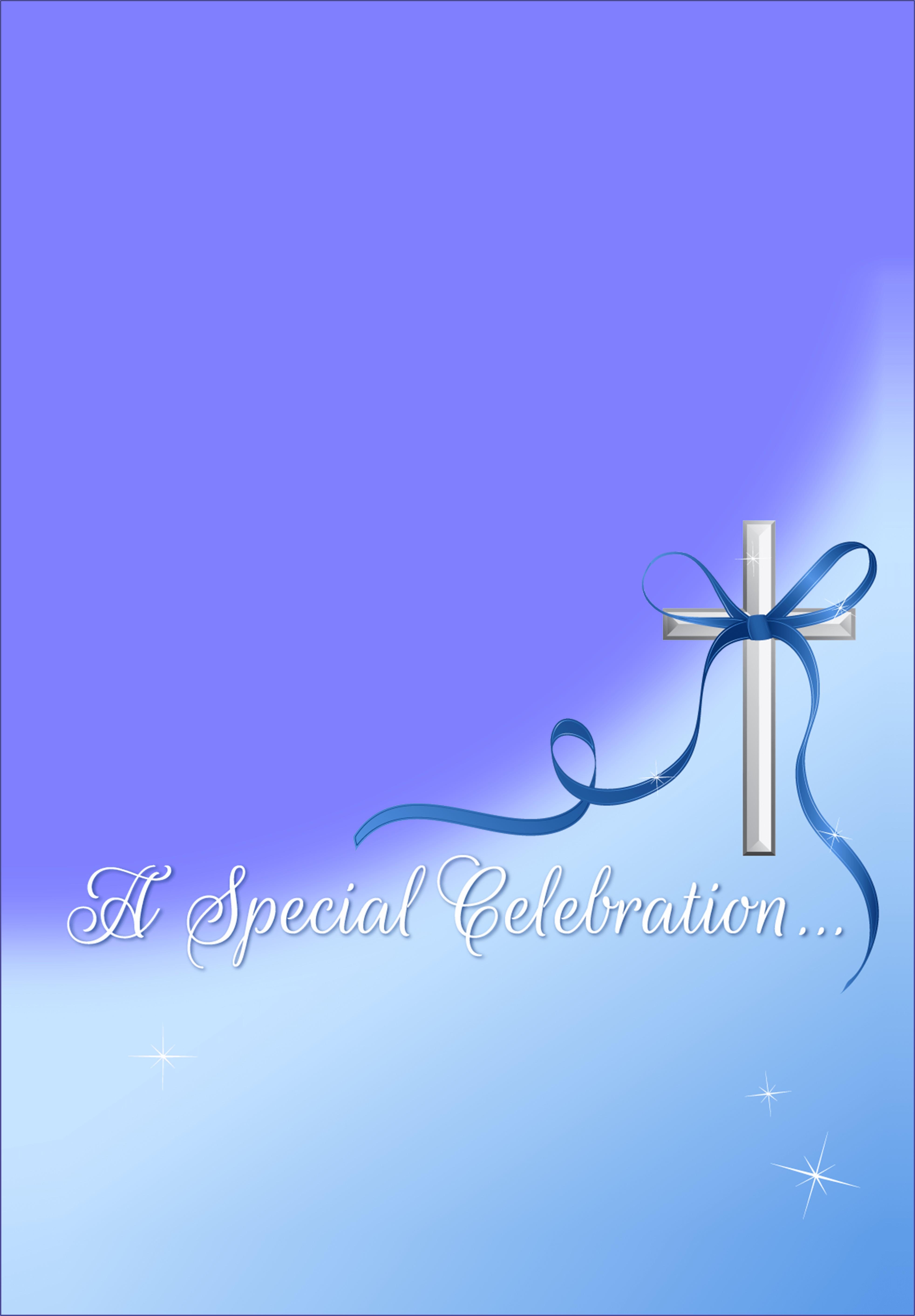 Baptism Invitation Background For Boy