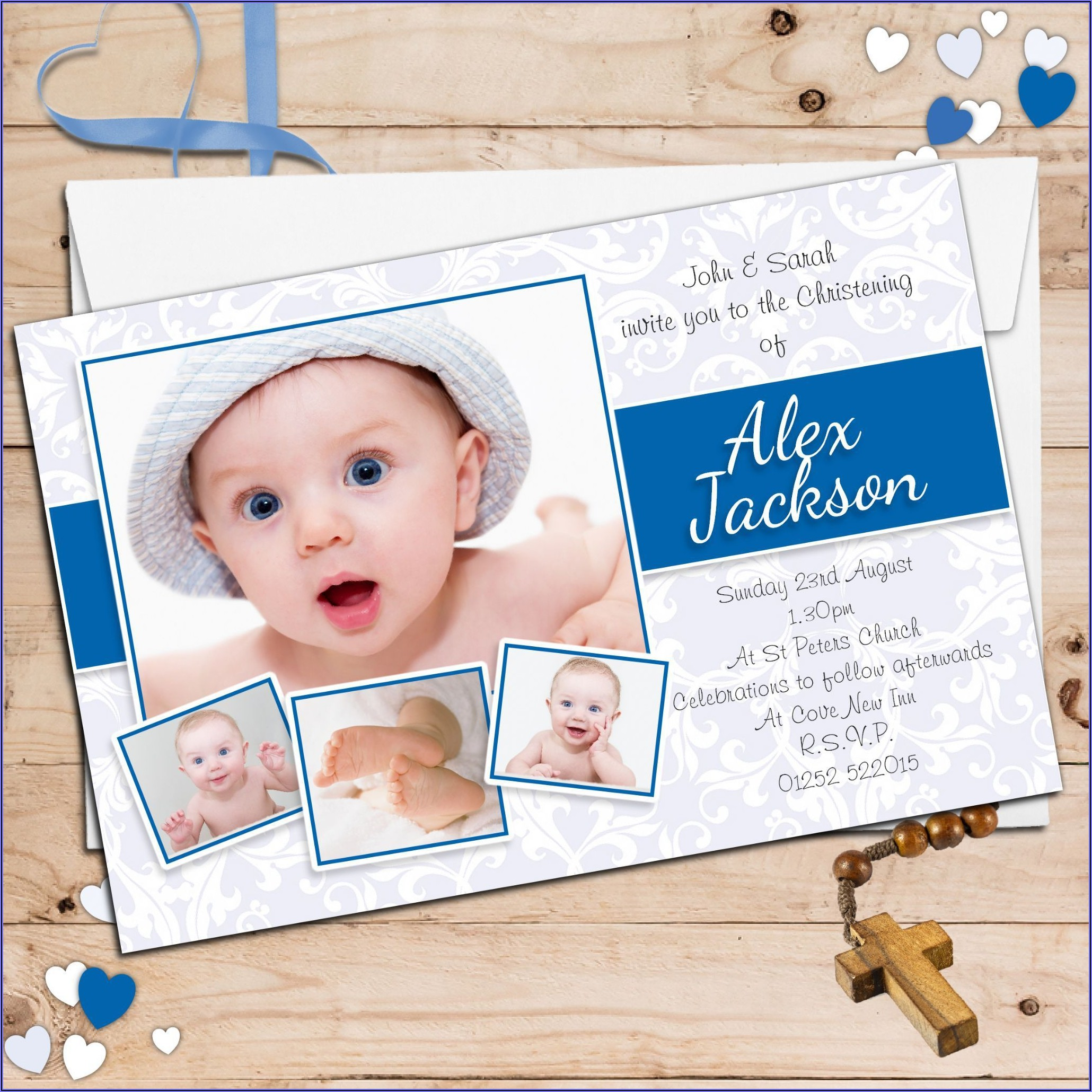 Baptism Invitation Boy Ideas