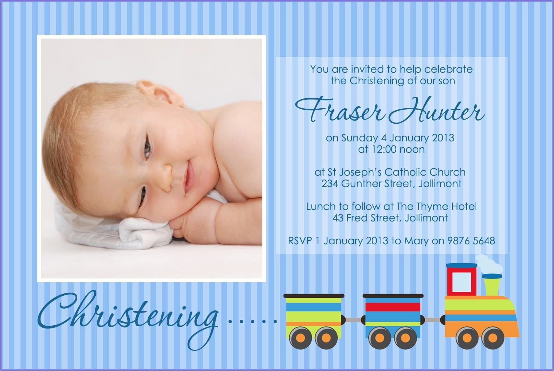 Baptismal Invitation Background Baby Boy