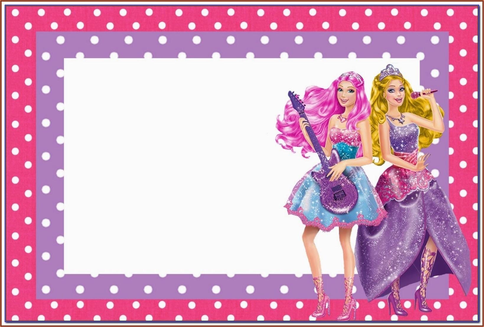 Barbie Birthday Invitation Templates Free Download