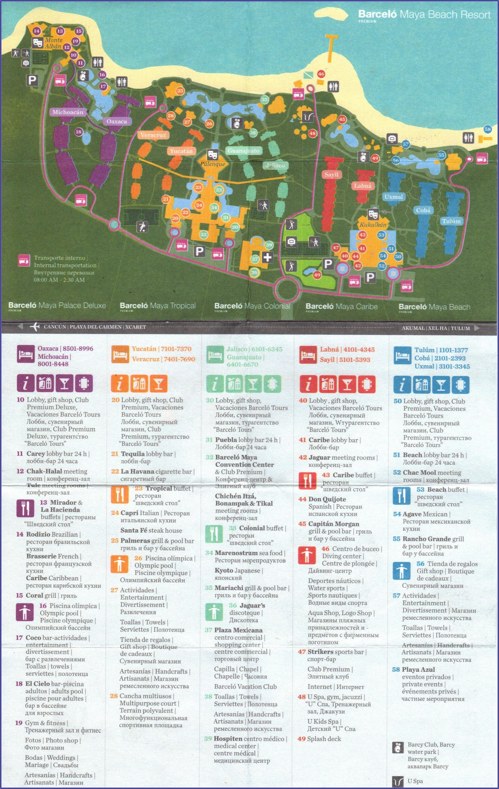 Barcelo Riviera Maya Hotel Map