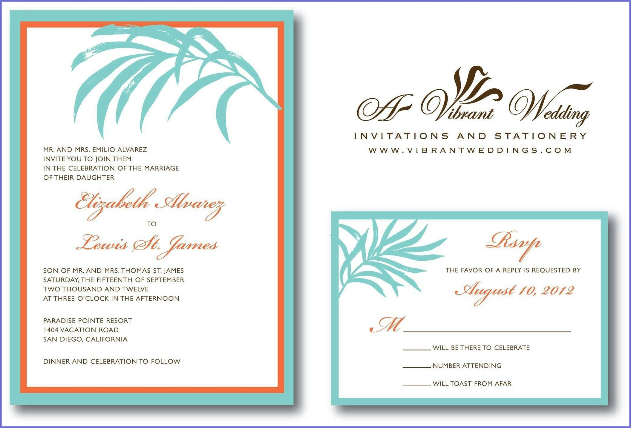 Beach Wedding Invitation Template Free