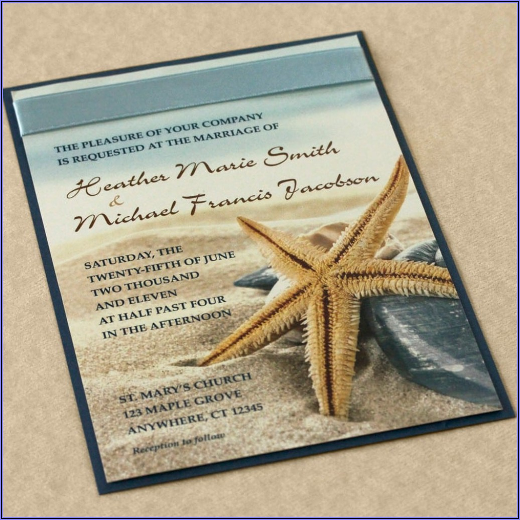 Beach Wedding Invitation Templates