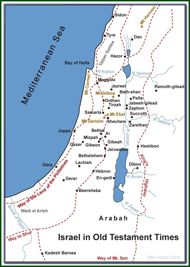Bible Map Israel Old Testament