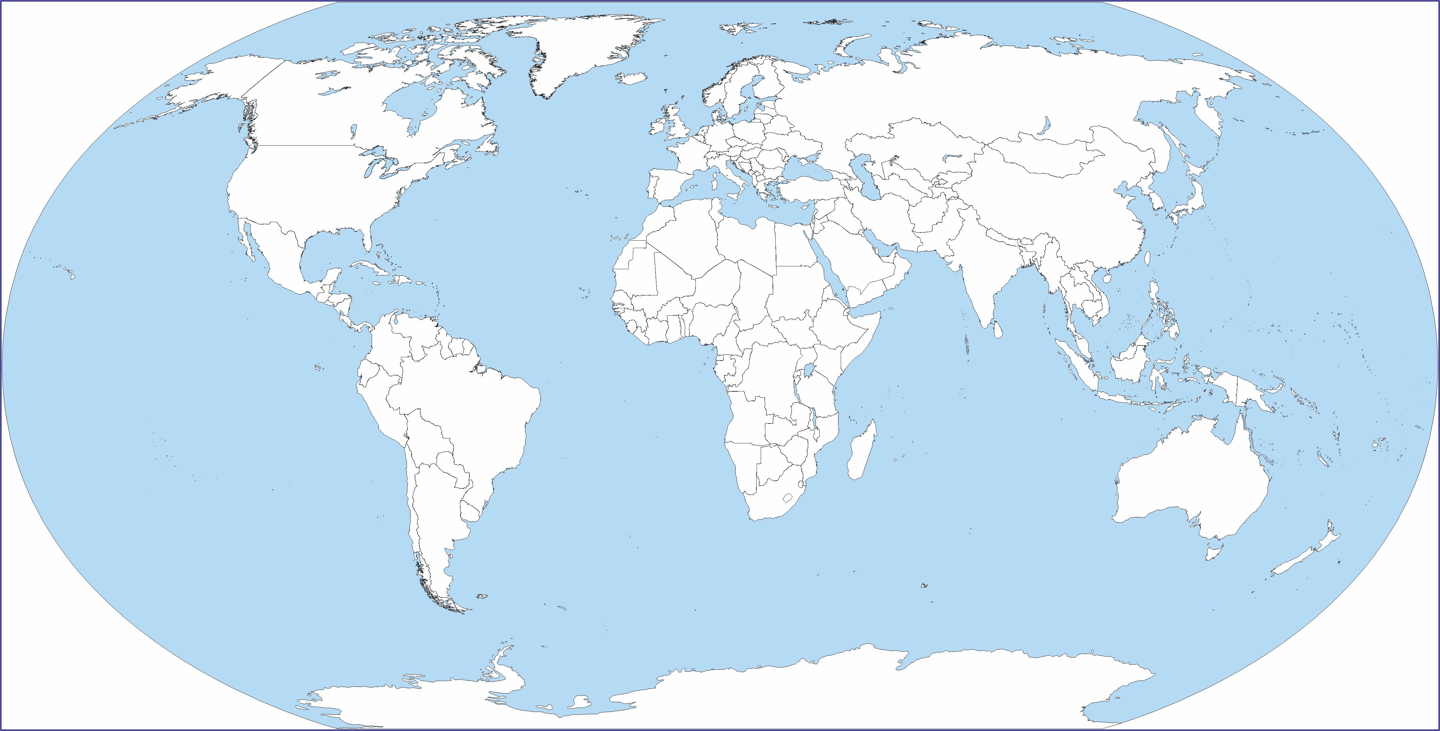 Big Blank World Map