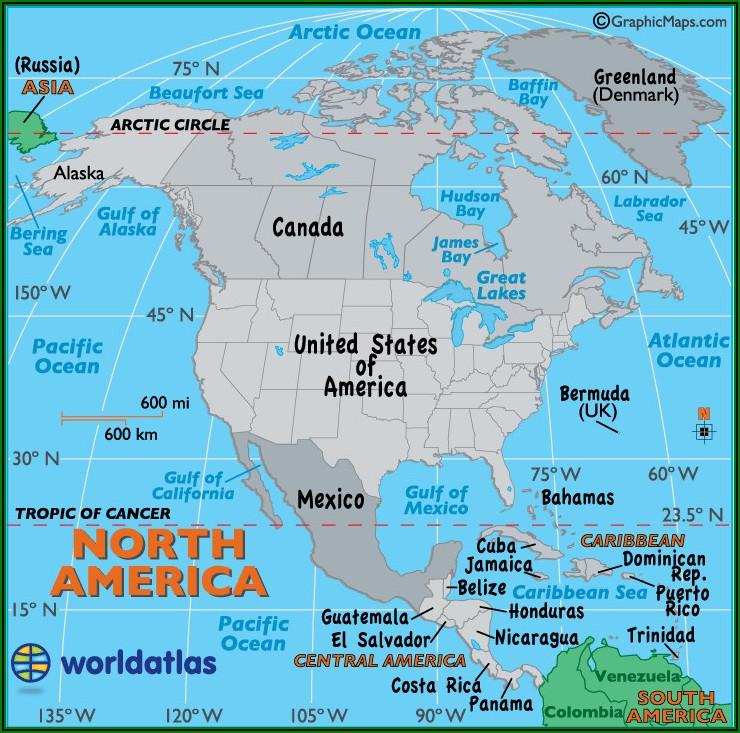 Big Map Of North America