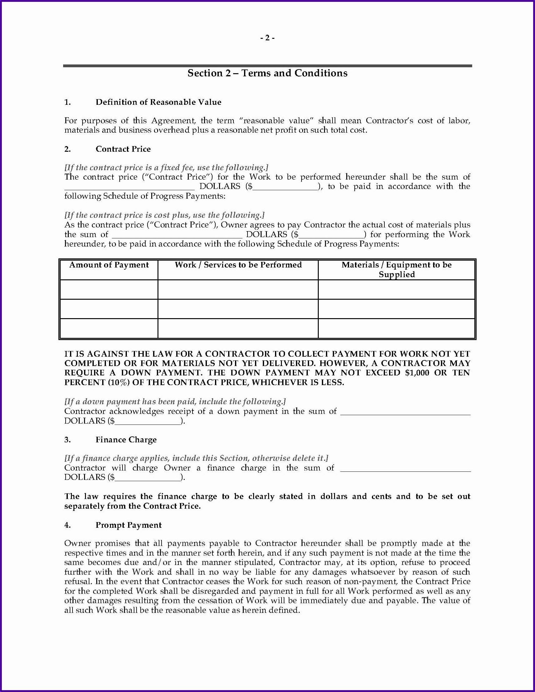 Binding Financial Agreement Template Free