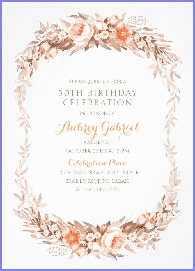 Birthday Invitation Card Design For Adults