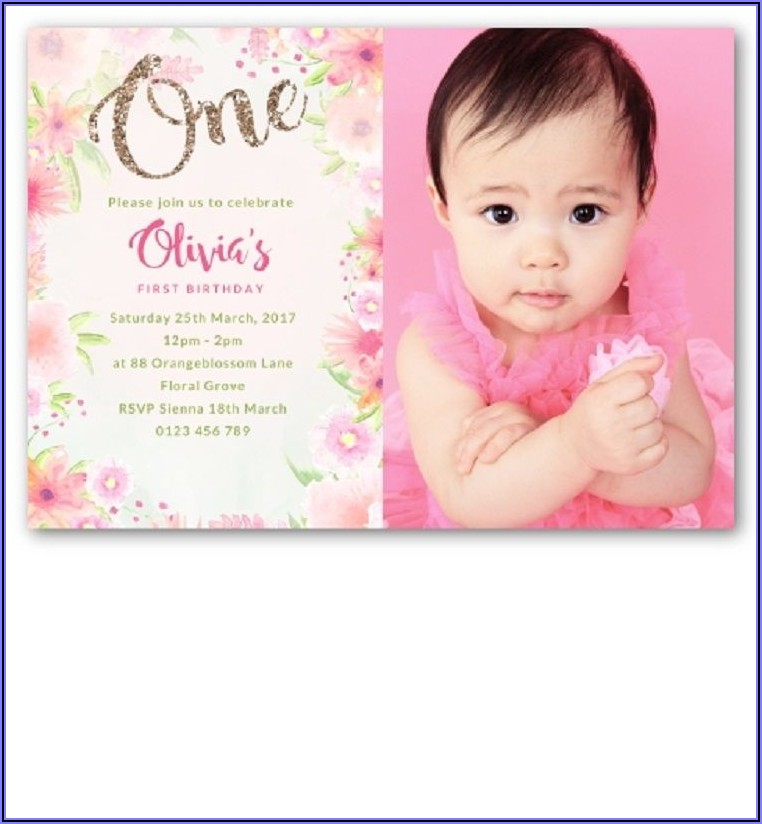 Birthday Invitation Card For Girl Online