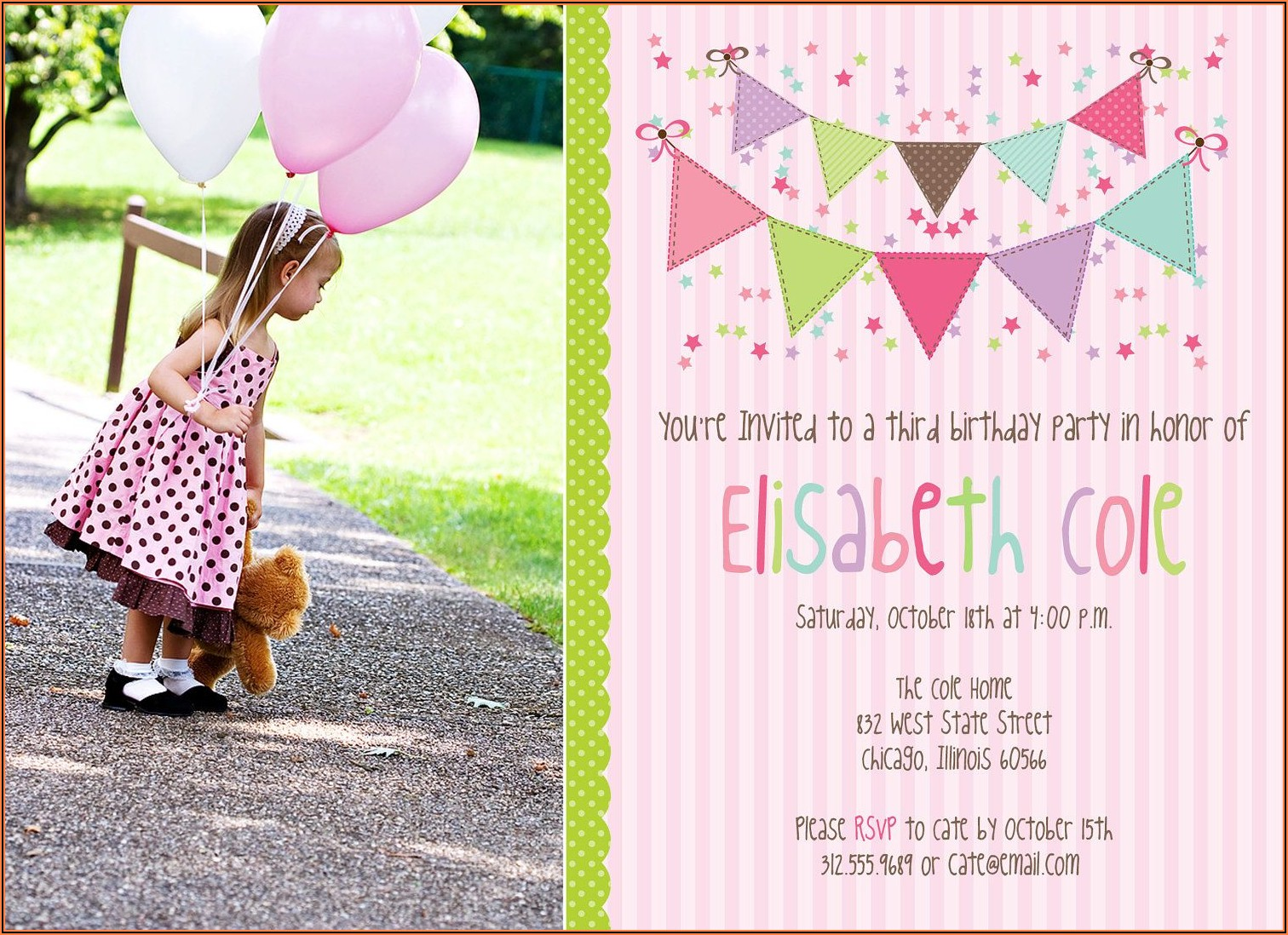 Birthday Invitation Layout Photoshop