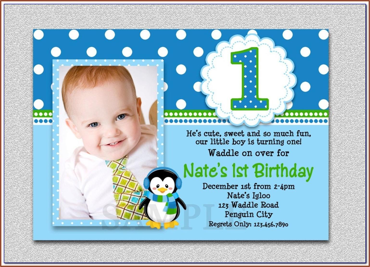 Birthday Invitation Template For Boy