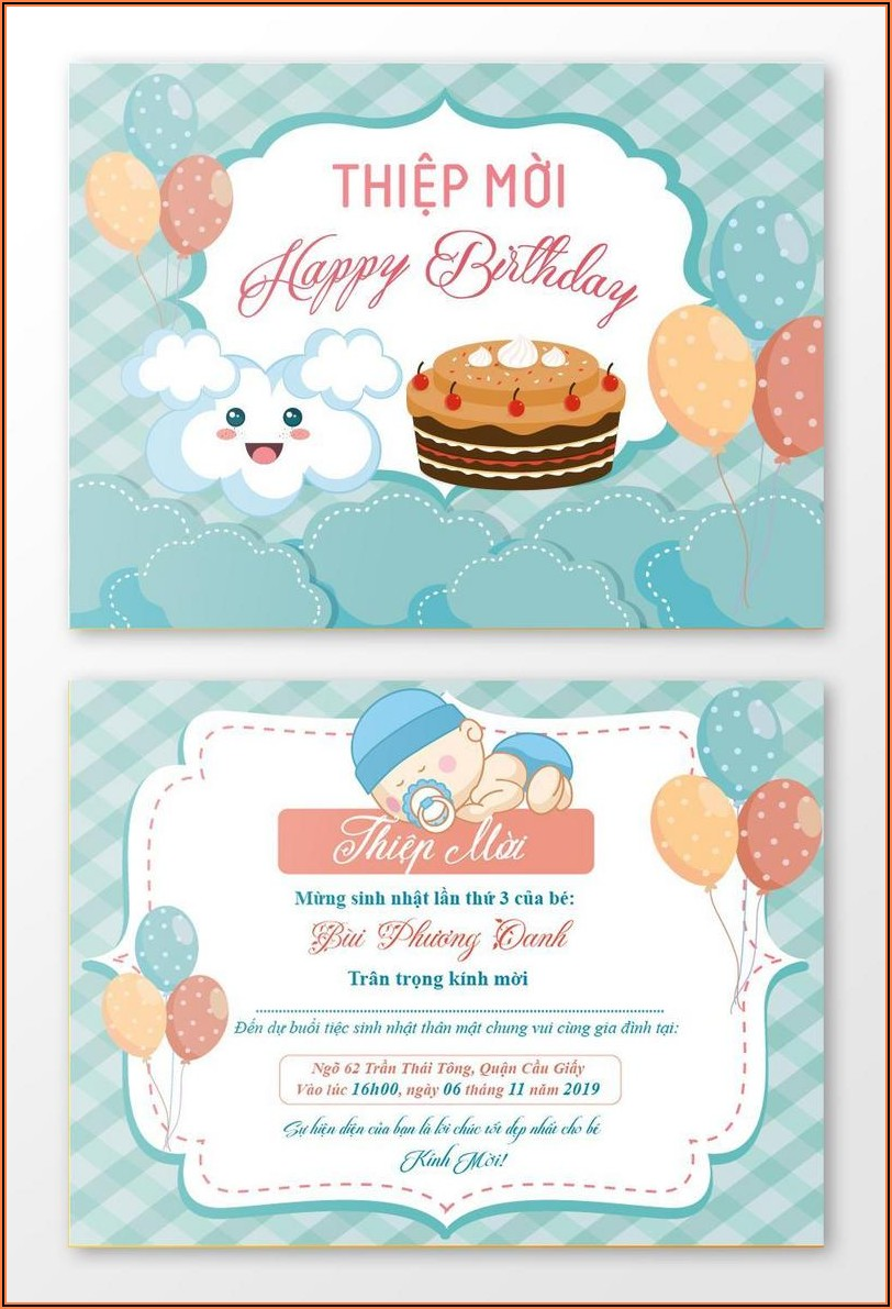 Birthday Invitation Templates Free Download Psd