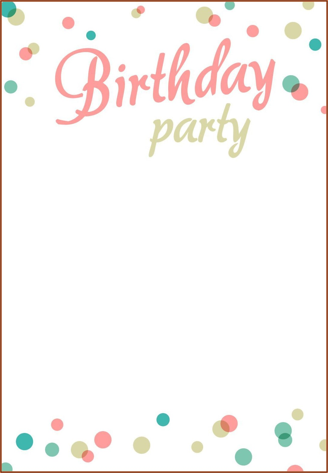 Birthday Invitation Templates Free Printable