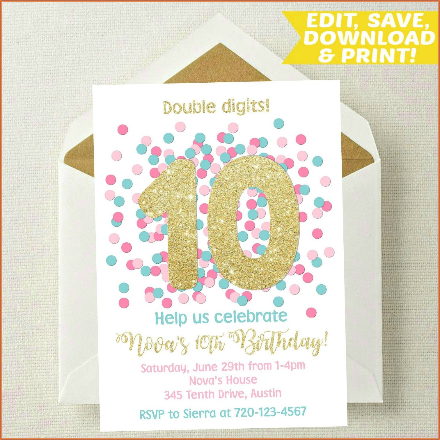 Birthday Invitation Templates Photoshop Free