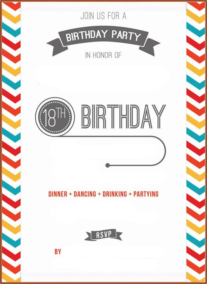 Birthday Invitation Templates Printable